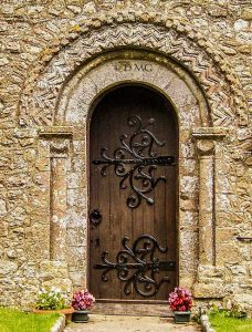 the Norman door at St Edmund's church