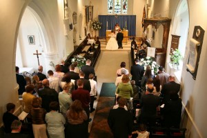 Wedding at St Edmund's Church
